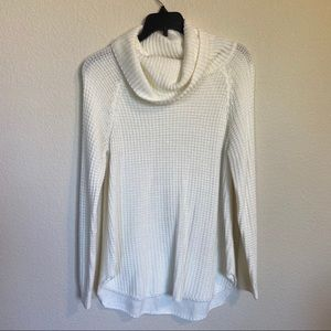 It's Our Time White Cowl Neck Knit Sweater